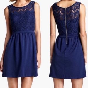 Lilly Pulitzer Rhea Navy Fit & Flare Lace Dress